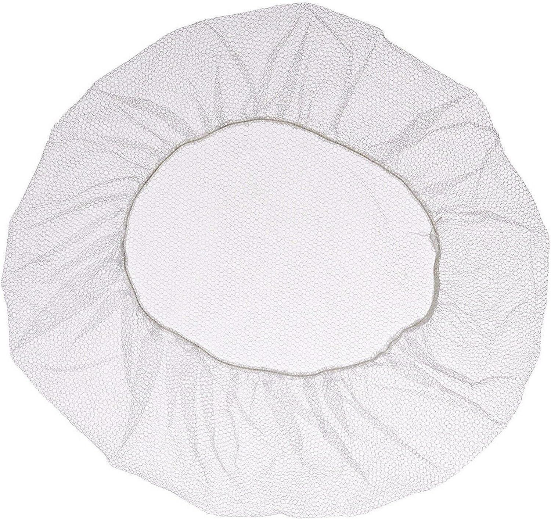 100 Pack Disposable White Nylon hairnets 21