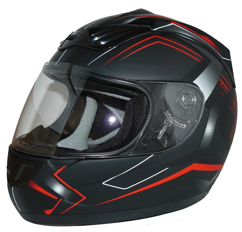 55-56 cm Fiamme Protectwear Casco Integrale da Moto S Nero//Grigio//Blu