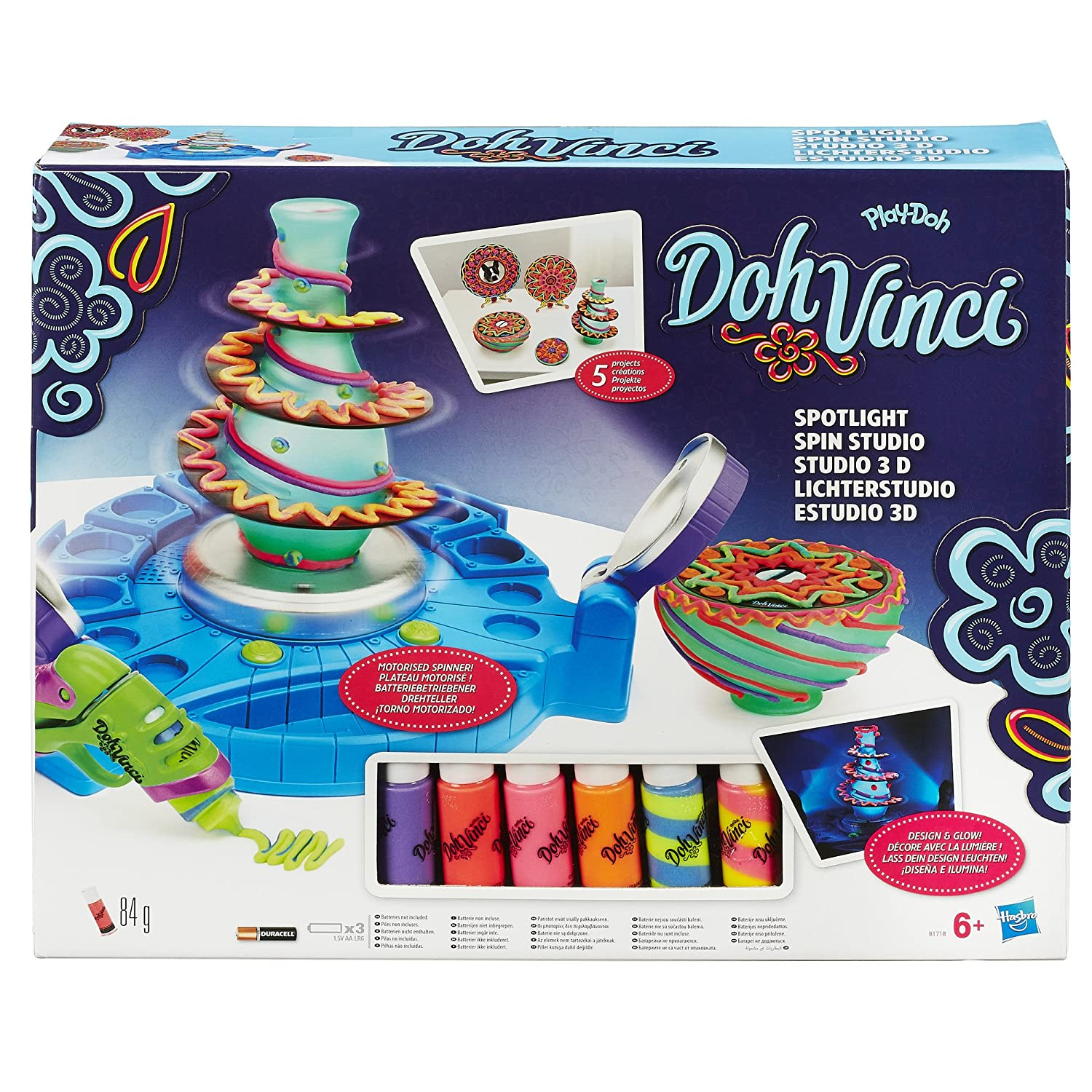 Play Doh Dohvinci Spotlight Spin Studio Toys Games Hobby Hound Diy Electronics Projects2