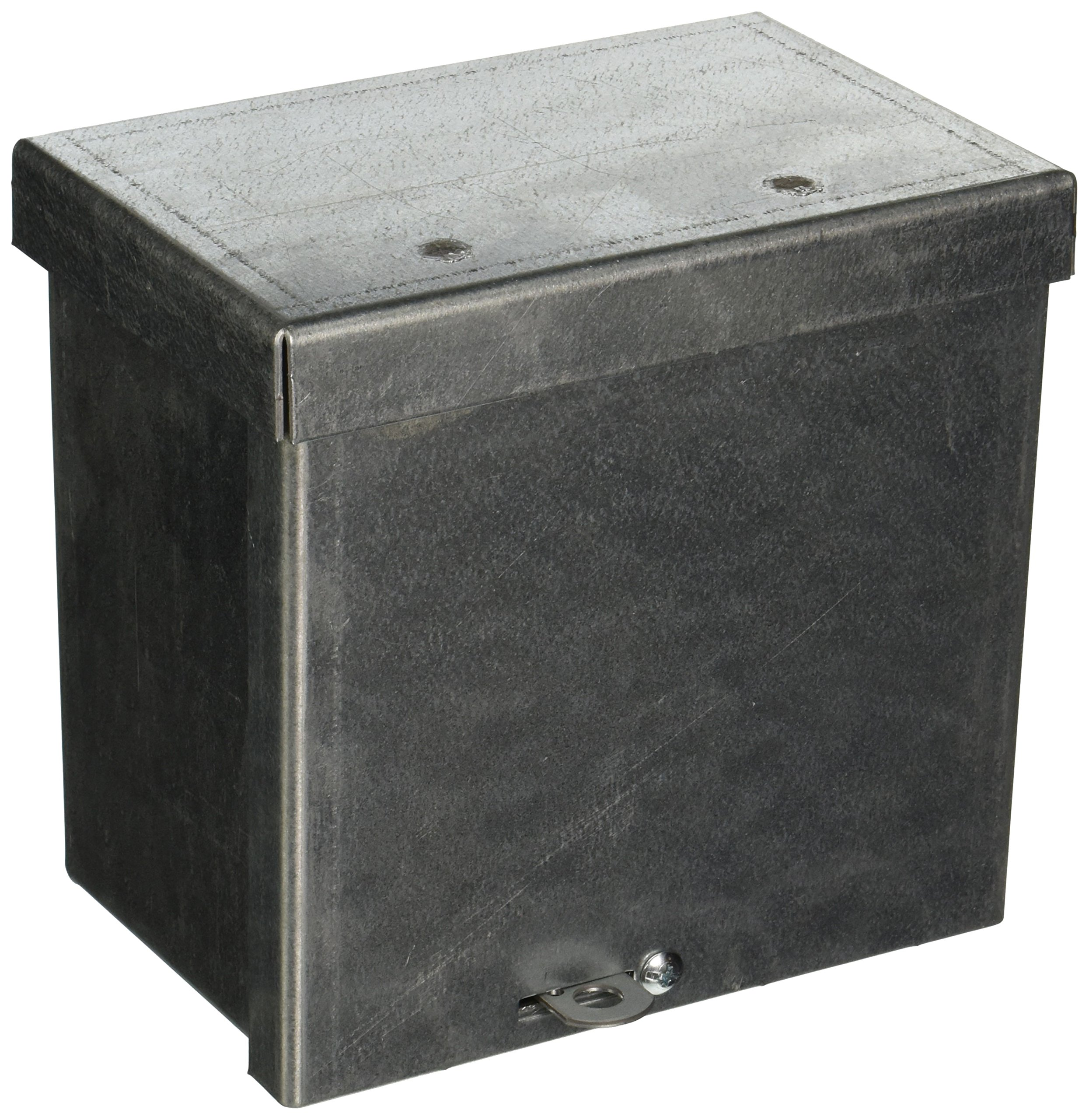 Wiegmann RSC060604G RSC-Series NEMA 1/3R Wall-Mount Enclosure with Lift-Off Screw Cover and Knockouts, Galvanized Steel, 6'' x 6'' x 4''