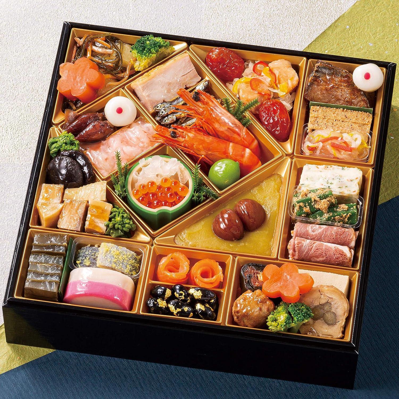 富山 千里山荘 おせち料理 2021 8.5寸 一段重 32品 盛り付け済み 冷蔵おせち 2人前~3人前 お届け日:12月31日