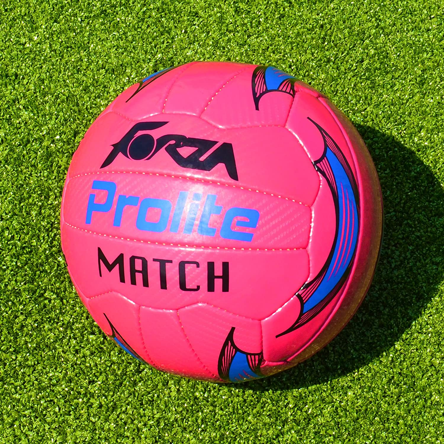 Forza Prolite Match Soccer Ball – Highly Visible明るいピンクサッカーボールIdeal for Matches Played on the Greyestの日。[ Net世界スポーツ] B01N91WN3A Pack of 3