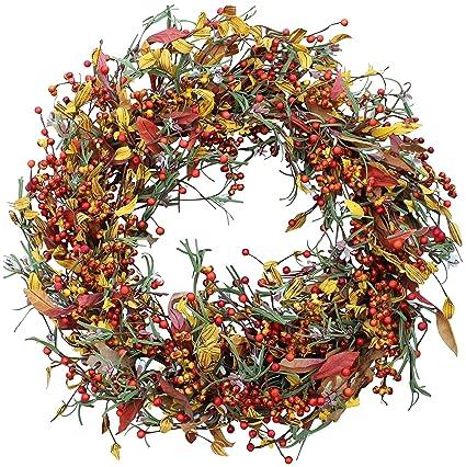 Amazon Com The Wreath Depot Appalachia Berry Silk Fall Door Wreath