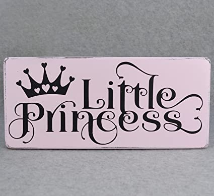 Amazon Com Yycharm Little Princess Wood Sign Pink And Black Girls