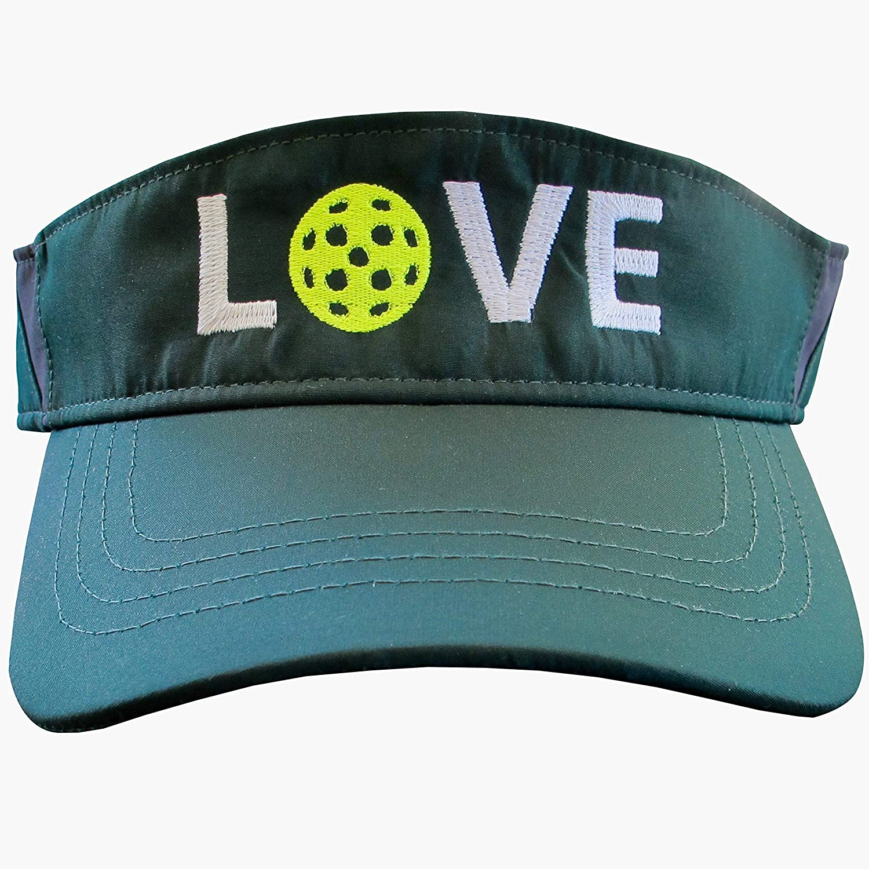 I Love Pickleball Adult Mesh Hat Adjustable Back Trucker Cap Orange