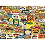 White Mountain Puzzles Vintage Foods & Drinks - 1000 Piece Jigsaw Puzzle