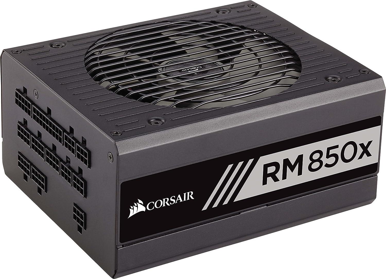 Corsair RM850x - Fuente de alimentación de 850 W (ATX/EPS, modular, certificación 80 PLUS Gold EU), negro (CP-9020093-EU)