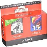 Lexmark #14 & #15 Black and Color Return Program Print Cartridges (18C2239)