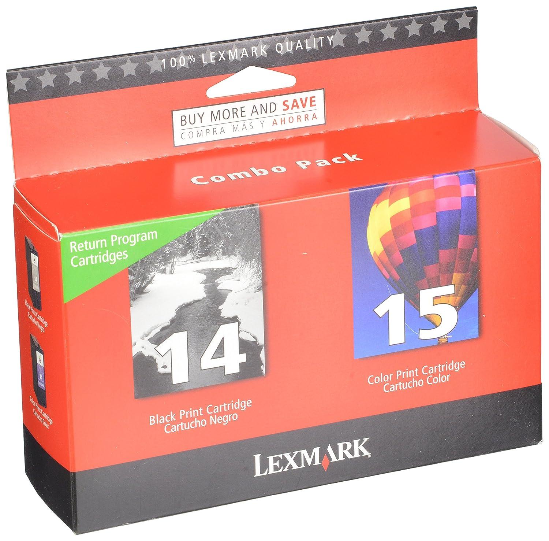 Amazon Lexmark 14 15 Black And Color Return Program Print Cartridges 18C2239 Office Products