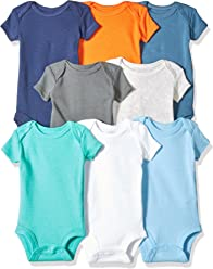 Carters Baby Boys 8 Pack Short-Sleeve Bodysuits