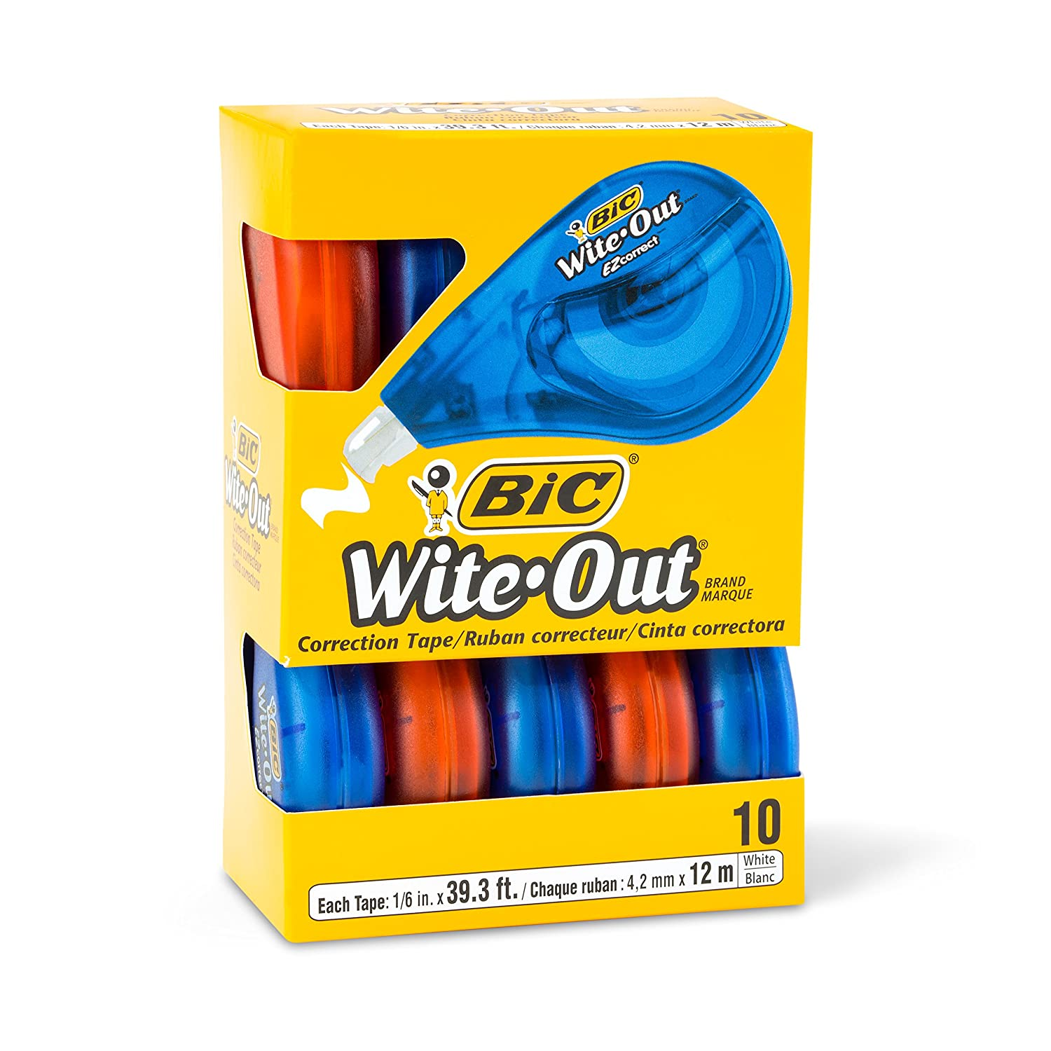 40-Count BIC Wite-Out Brand EZ Correct Correction Tape White
