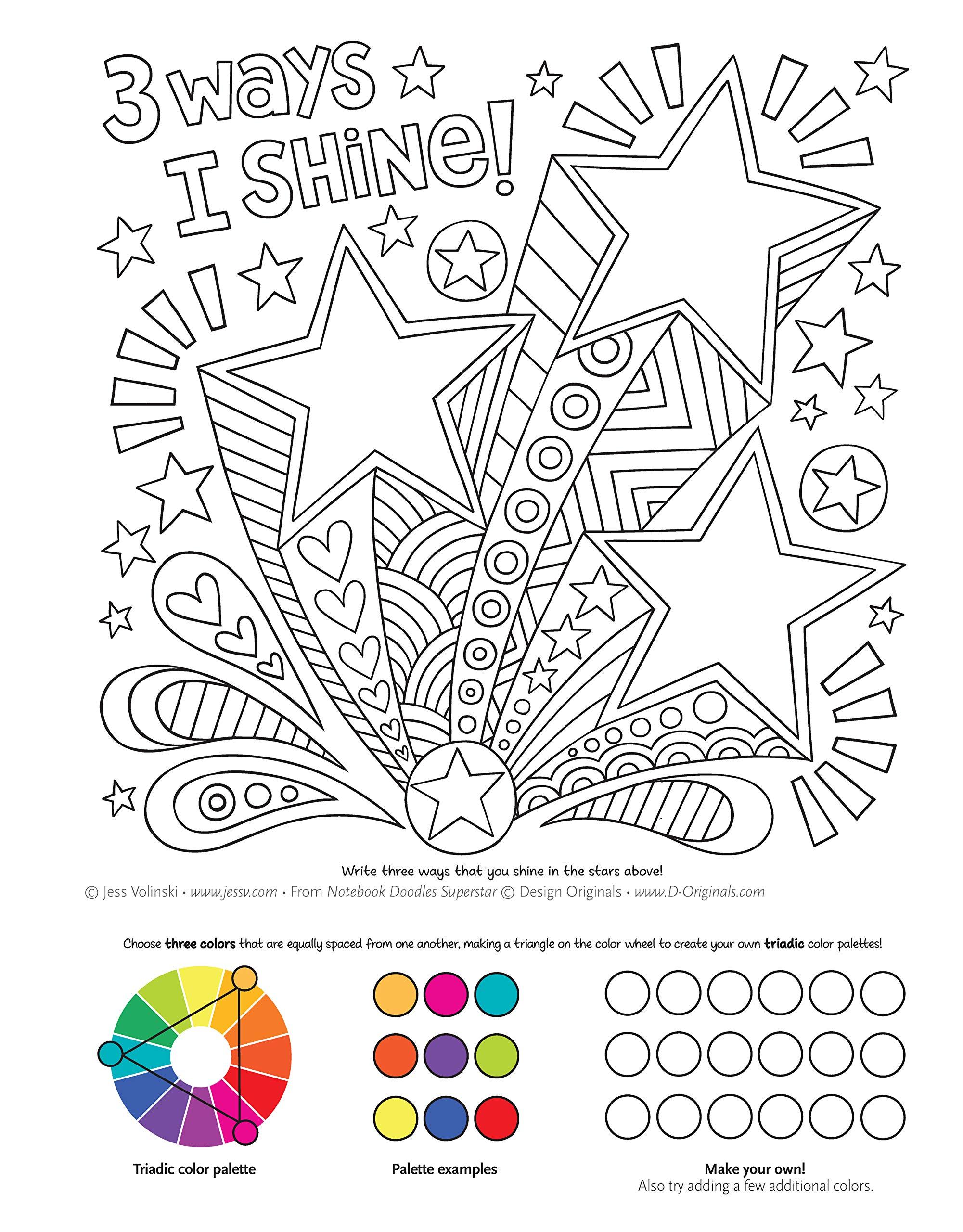 Notebook Doodles Superstar: Coloring & Activity Book: Amazon.de ...