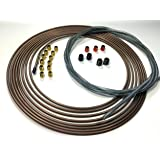 """25 Ft. of 3/16"""" (4.75 mm) Copper Nickel Tubing with Armor and Fittings"""