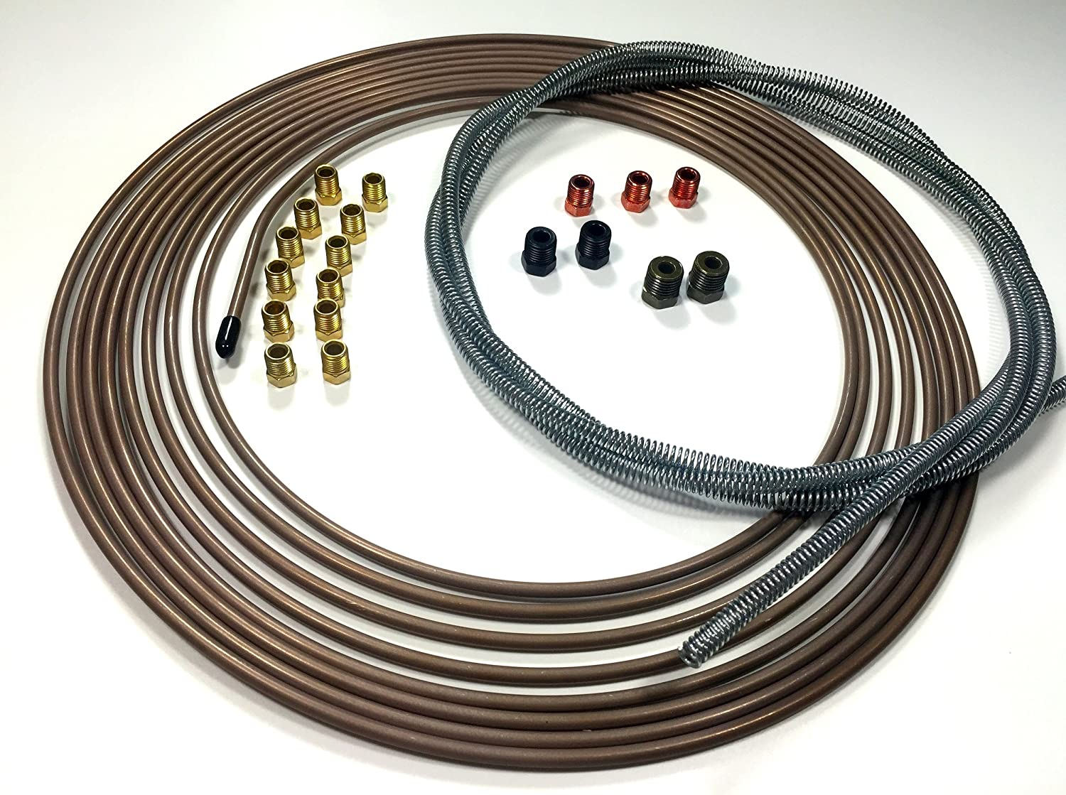 25 Ft. of 3/16' (4.75 mm) Copper Nickel Tubing with Armor and Fittings The Stop Shop