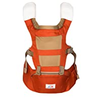 Emma & Noah Baby Carrier, Ergonomic Design for Both Child and Parents (Recommended for 6 to 36 mo., Approved for 3.6 to 15 kg), 3 Front and Back Positions, Color: Red, including Hipseat, ideal as Toddler Carrier, Baby Carrier Backpack, Baby Holder