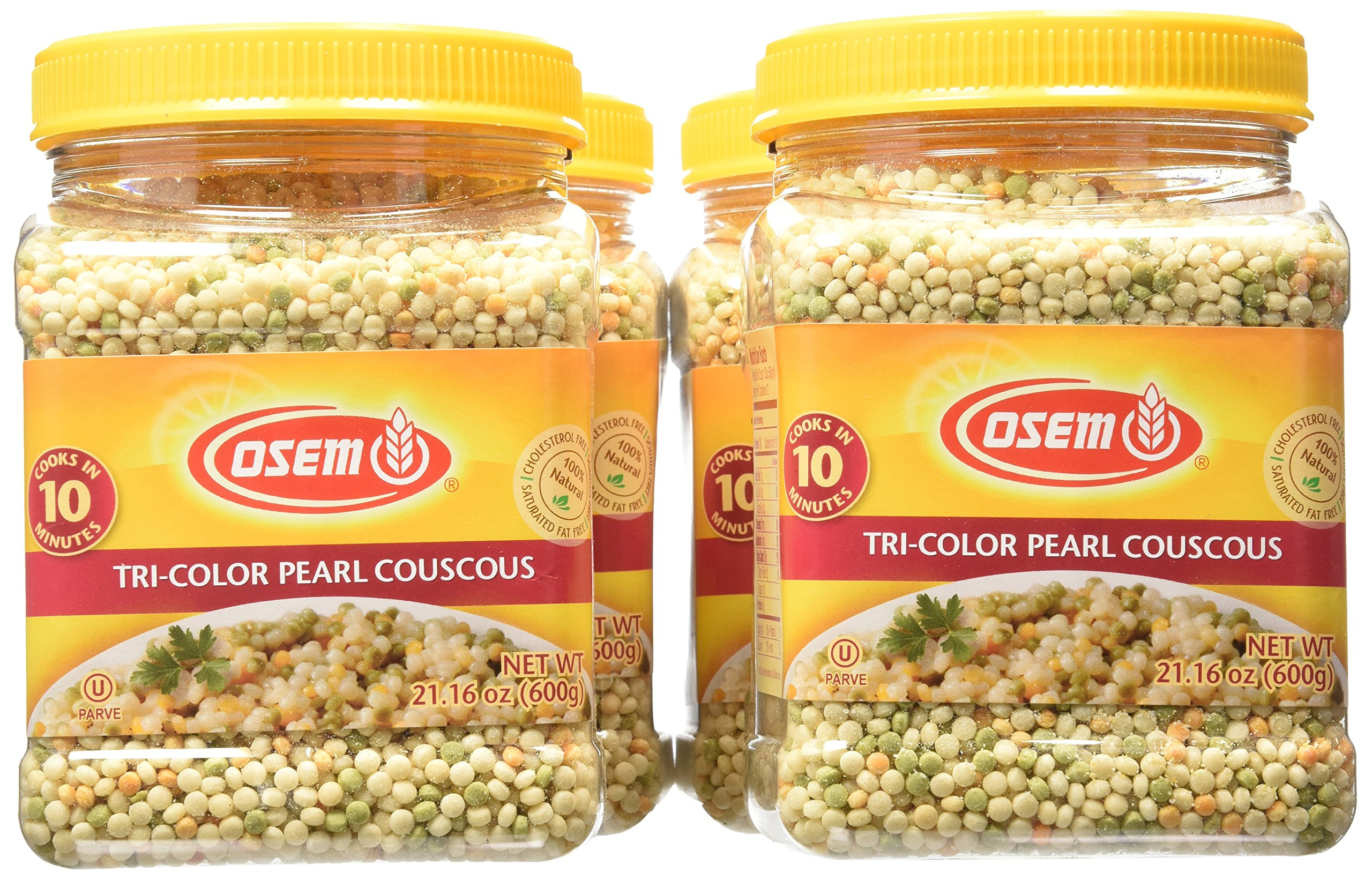 Osem Tri-Color Pearl Couscous, 21.16 Ounce (Pack of 4) by Osem