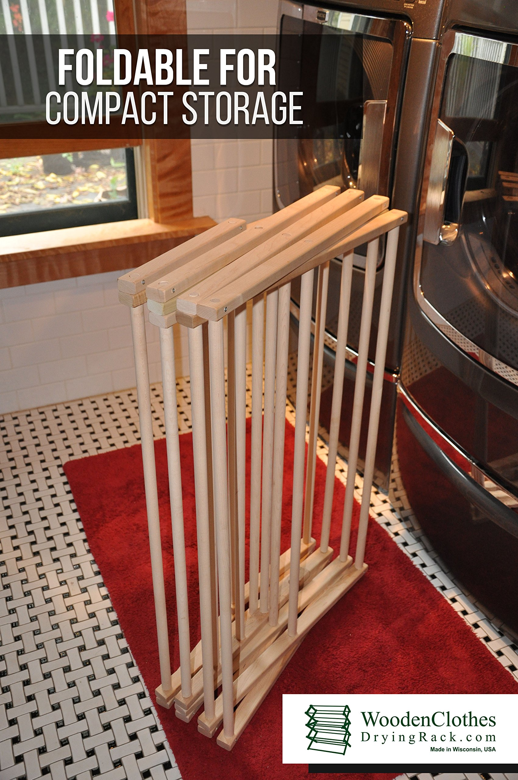 Medium Wooden Clothes Drying Rack by Benson Wood Products by Benson Wood Products (Image #3)