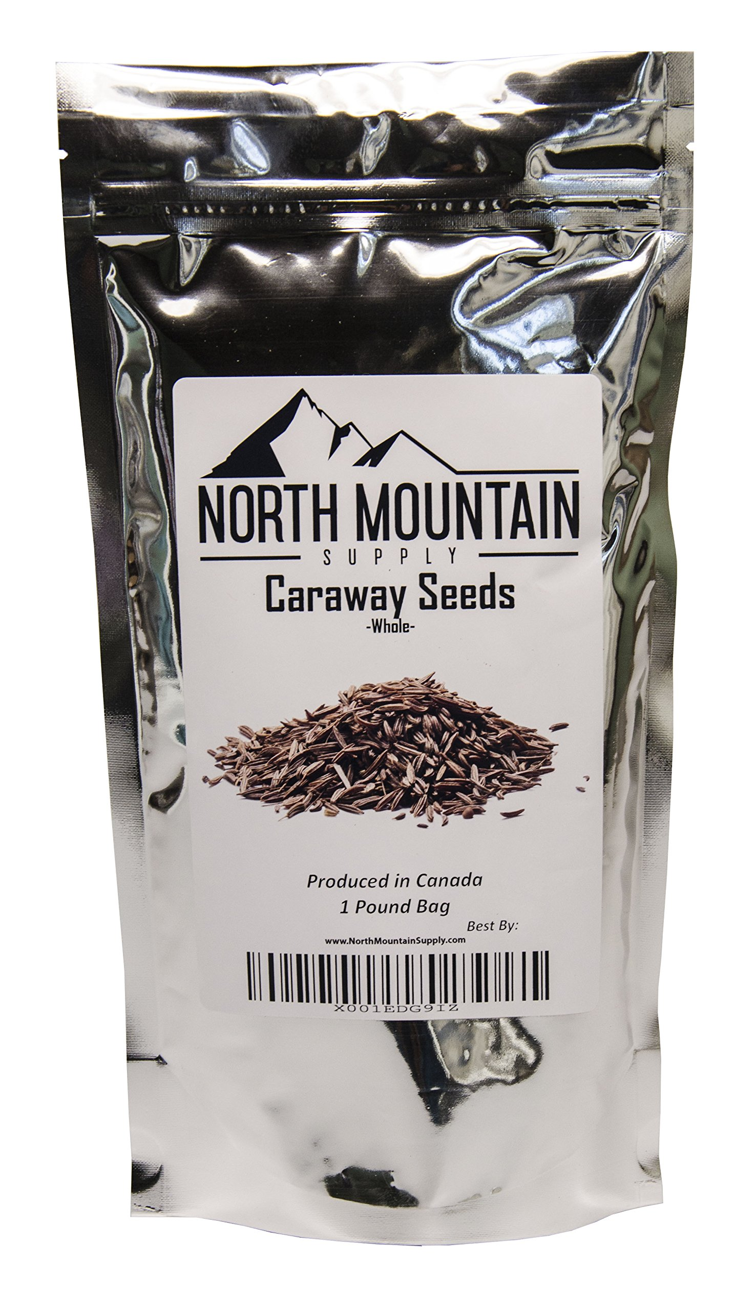 North Mountain Supply Bulk Whole Caraway Seeds - 1 Pound Bag