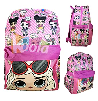 408c053bb8 L.O.L Surprise! Large School Printed Backpack 16 quot  Girls Bag Pink LOL  ...