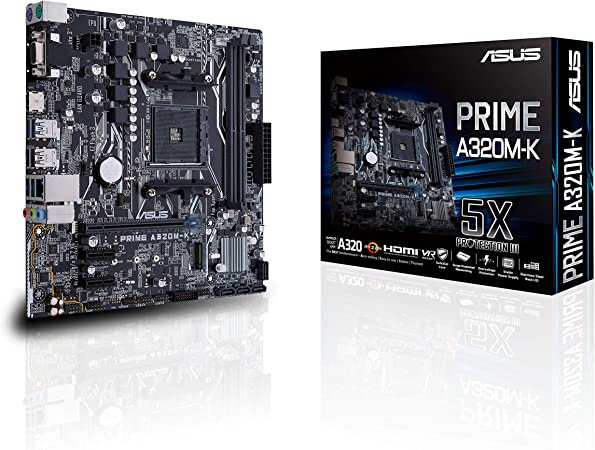 ASUS PRIME A320M-K - Placa Base AMD AM4 mATX con iluminación LED ...