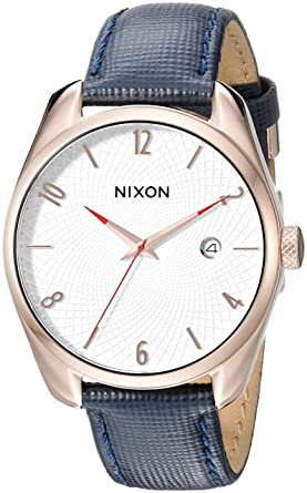 5af9debc4 Amazon.com: Nixon Women's A4732160 Bullet Watch With Blue Leather ...