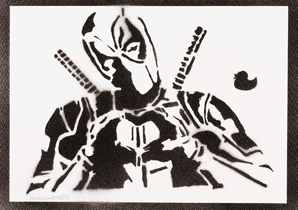 Póster Deadpool Masacre Grafiti Hecho A Mano - Handmade ...
