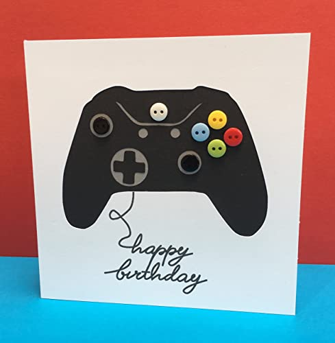 Gaming Birthday Card Controller Games Console Happy