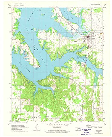 Grove Oklahoma Map.Amazon Com Oklahoma Maps 1971 Grove Ok Usgs Historical