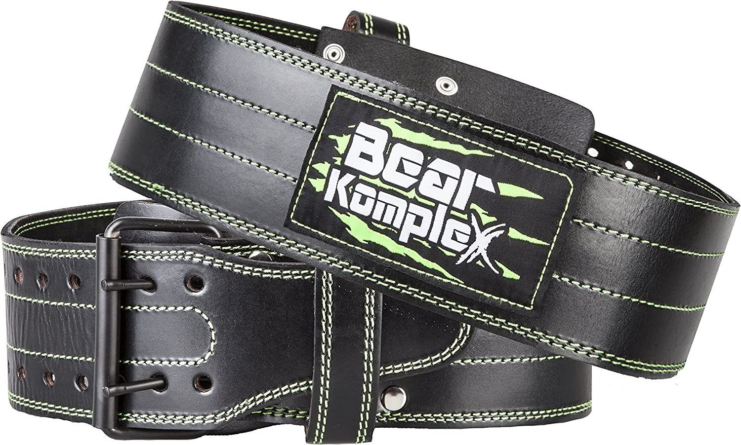 Bear KompleX Genuine Leather Adjustable Weightlifting Belt, Protection and Support for Back and Core During Crossfit Training, Olympic Athletes, and Powerlifting, 5 Millimeters Thick, Men and Women