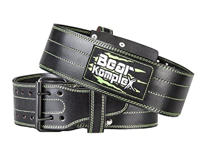 Bear KompleX Genuine Leather Adjustable Weightlifting Belt