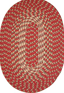 """product image for Hometown 40"""" x 60"""" Braided Rug in Colonial Red"""
