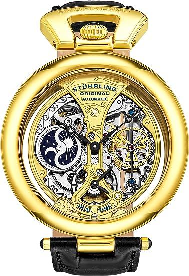 Stührling Original 127A.333531 - Reloj analógico para Hombre, Correa de Cuero: Amazon.es: Relojes