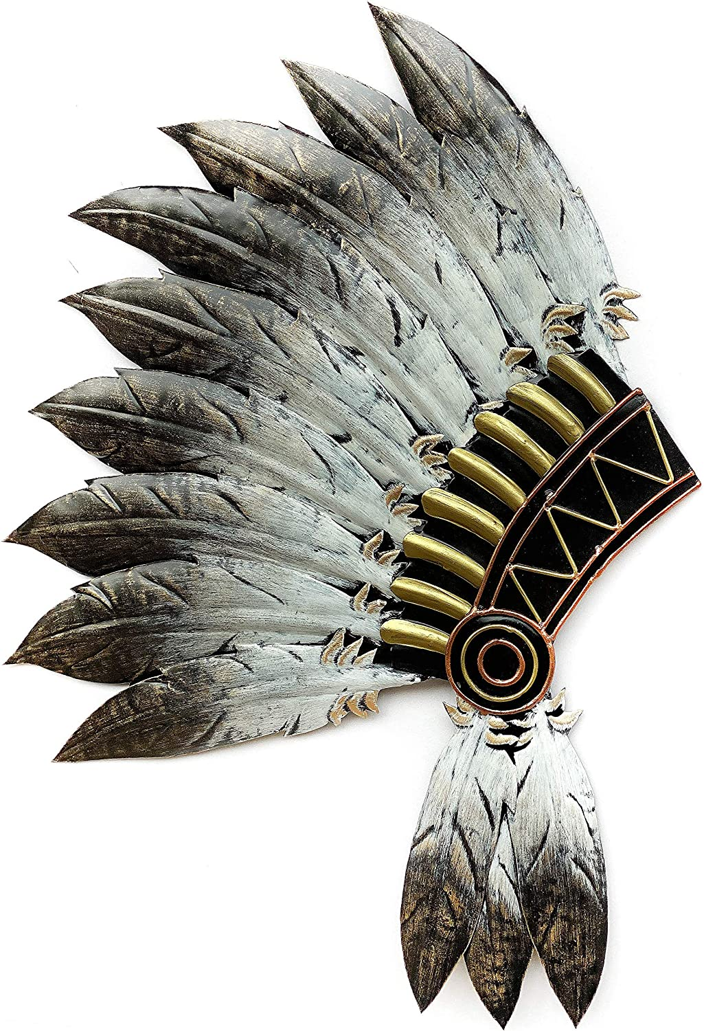 Crafia Native American Headdress Metal Wall Decor | Cast Iron Native American Wall Art and Ideas