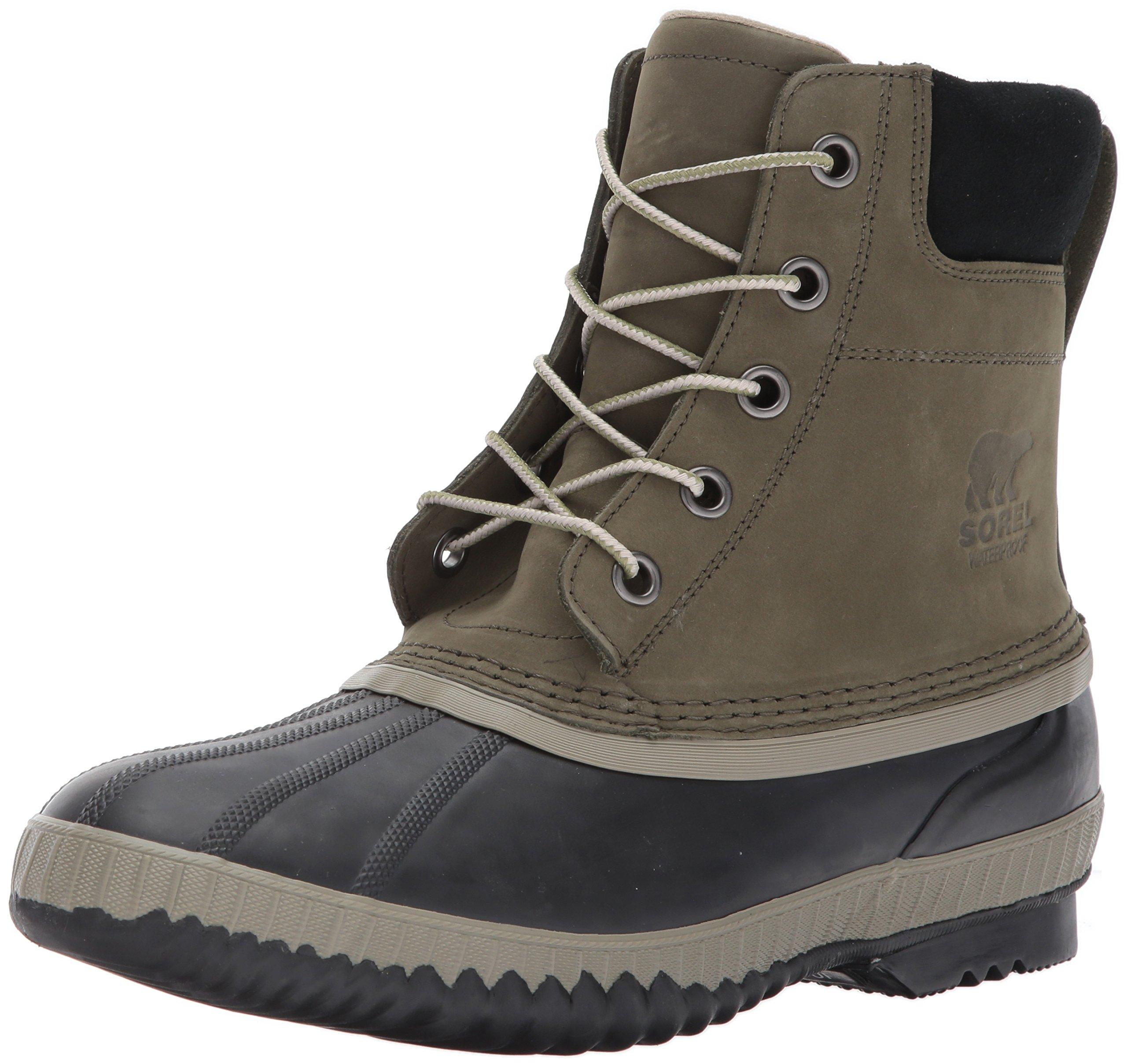 SOREL Men's Cheyanne II Snow Boot, Nori, Black, 8.5 D US by SOREL