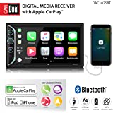 """Dual DAC1025BT 6.2"""" LED Backlit LCD Digital Multimedia Touch Screen Double DIN Car Stereo with Built-in Apple Car Play, Bluetooth & USB Port"""
