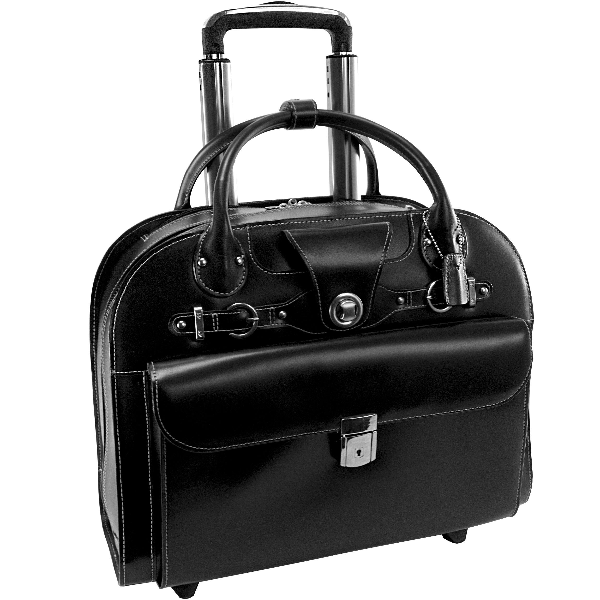 Mcklein USA 96315 Edgebrook , 15.4'' Leather Wheeled Ladies' Laptop Briefcase