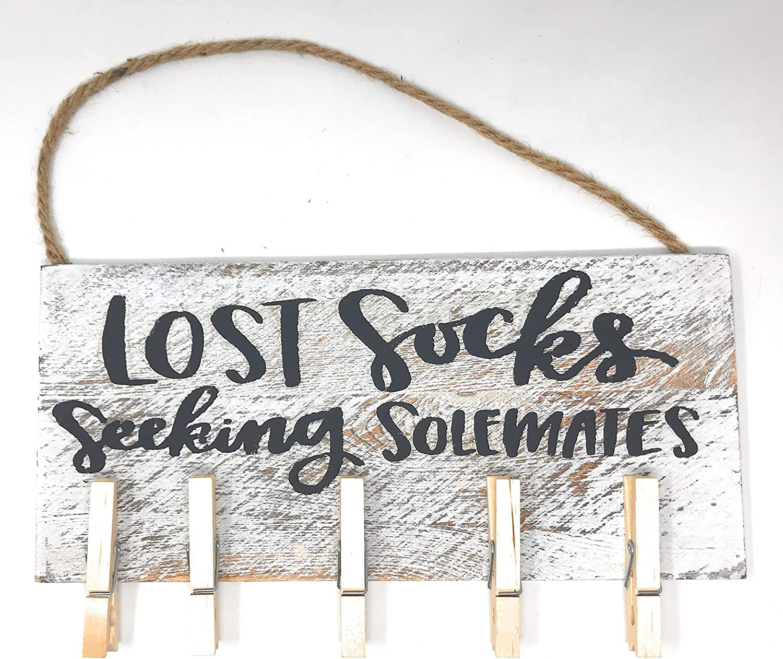 Preferred Crafts Lost Socks Laundry Room Sign Seeking Solemates Decor