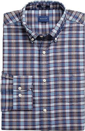 GANT Camisa Cuadro Medio Azules