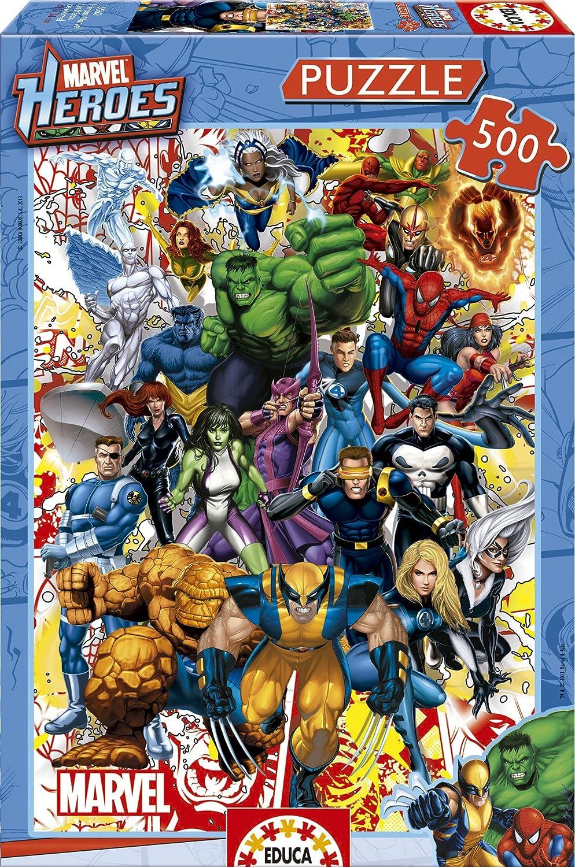 Educa Borras - Serie Marvel, Puzzle 500 piezas Héroes Marvel (15560): Amazon.es: Juguetes y juegos