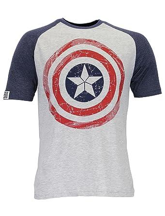 Marvel Avengers Mens' Captain America T-Shirt Small