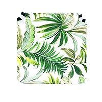 Tienda Eurasia - Pack de 4 Cojines para Sillas, Estampado Tropical Green, con 2 Correas de…