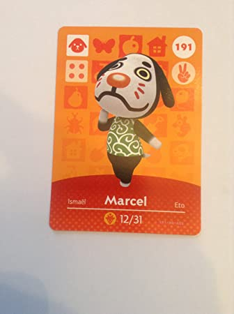 Amazon Com Nintendo Animal Crossing Happy Home Designer Amiibo Card Marcel 191 200 Usa Version Computers Accessories