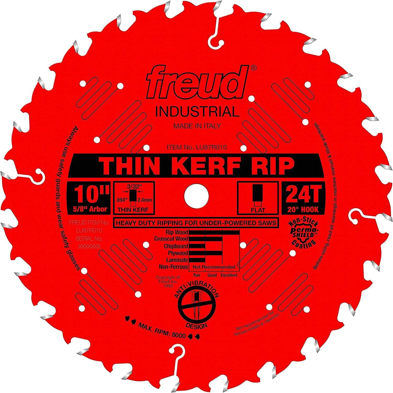 "Freud LU87R010 10"" x 24T Thin Kerf Rip Blade"