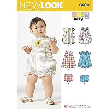 Simplicity New Look Baby-Strampelanzug und Kleid mit Höschen ...