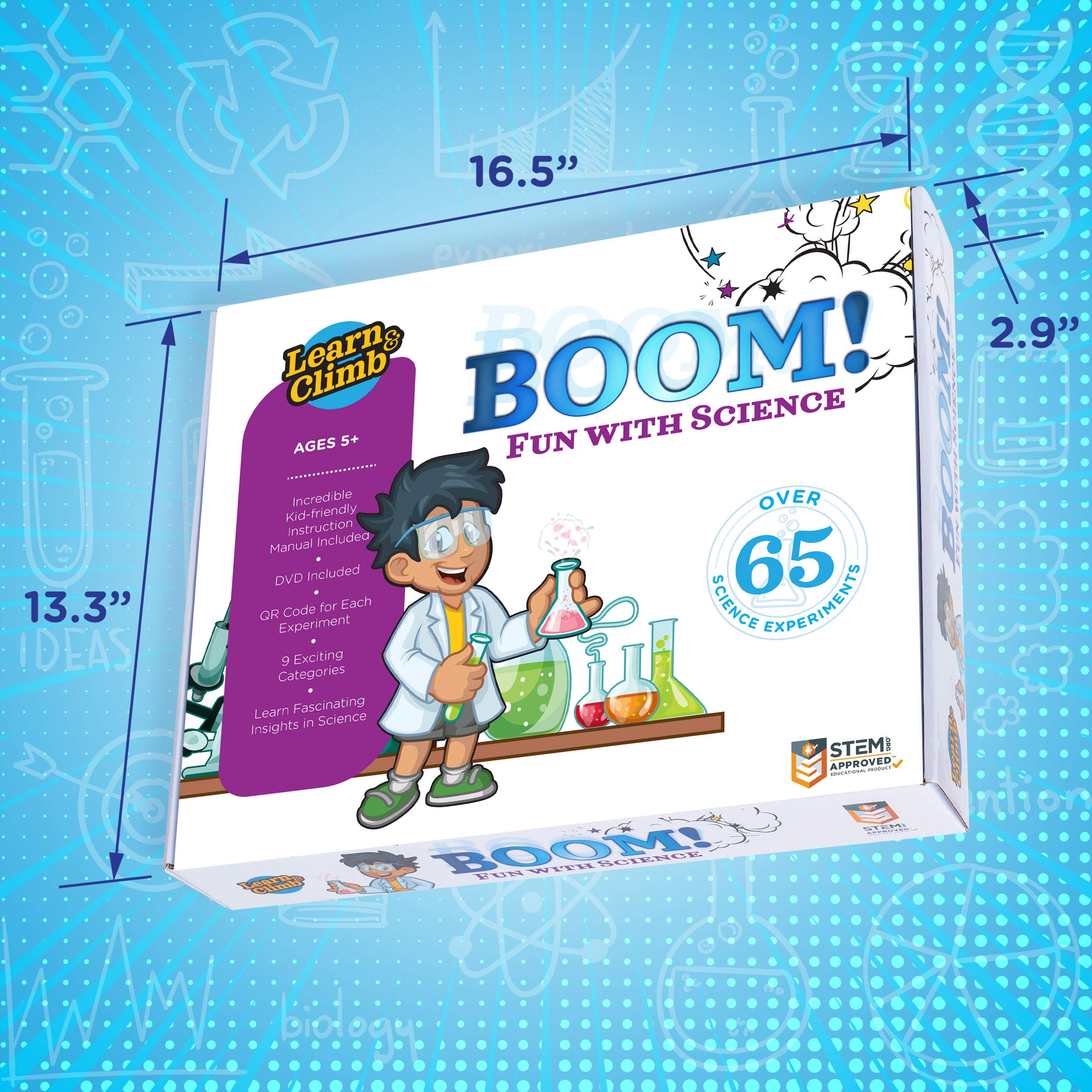 Learn & Climb Kids Science Kit - Over 60 Experiments, Fun with Science! by Learn & Climb (Image #5)