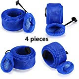 Amomo 4 Pieces/Set Fishing Rod Cover Fishing Pole Glove Protector Cover Rod Sleeve Sock with Lanyard for Fly, Spinning Casting, Sea Fishing Rod