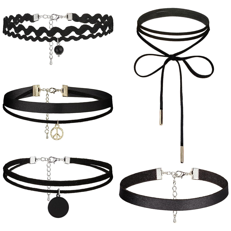 Dream Catcher Black Choker Necklaces with Pendants Classic Leather Necklace Set Unique for Women Girls Wenzhai Jewelry Co. Ltd AMS0078-53
