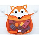 FRANKY the Fox - Bath Toy Organizer - Holder Storage mesh - Quick drying materials (Franky The Fox) Woodland Theme - Shower Caddy - Mesh Bag - Bath Toys