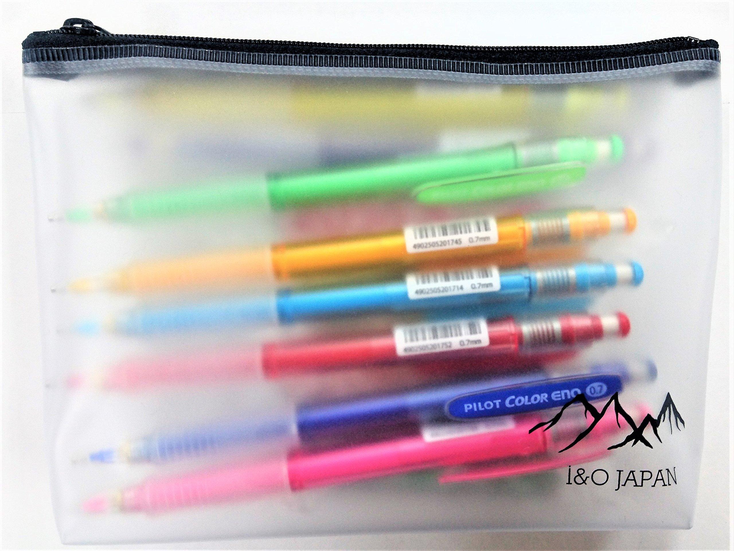 Pilot Color Eno 0.7mm Automatic Mechanical Pencil 8 Color & 0.7mm Lead Refill 8-Box Full Set with Original Vinyl Pen Case by Pilot (Image #2)