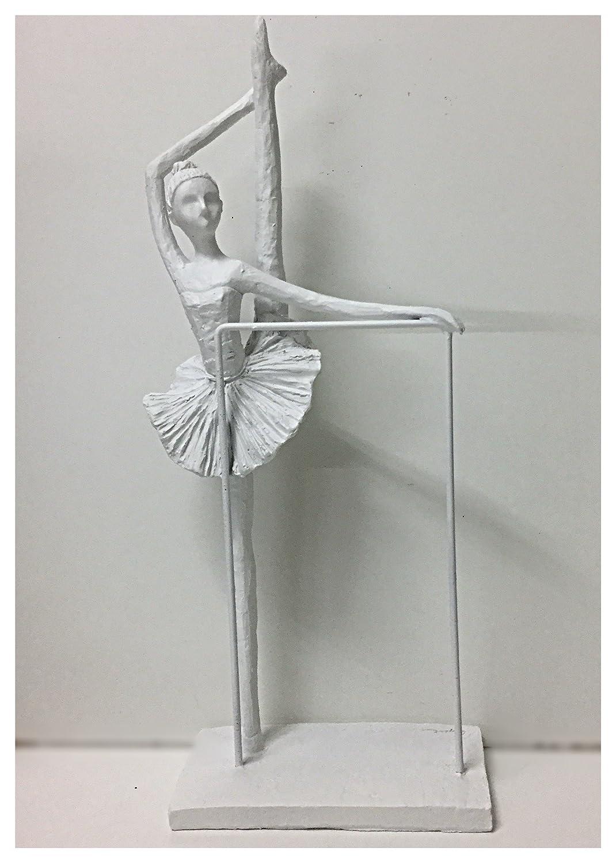 DANSEUSE Statuette déco Polyrésine 16x8x36 cm Blanc